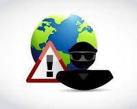 Security warning. International hackers Stock Images