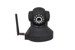 Security wireless camera isolated on white Stock Photography