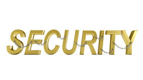 SECURITY word with chain. Stock Photography