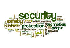 Security word cloud Royalty Free Stock Photo