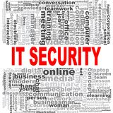 IT security word cloud. Creative illustration of idea word lettering typography . 3D rendering Royalty Free Stock Image