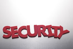 Security word on metal background Royalty Free Stock Images