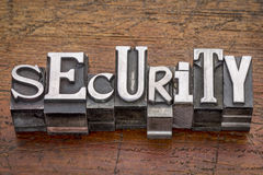 Security word in metal type Stock Photo