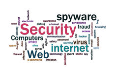 Security words cloud. Cloud of security related words Royalty Free Stock Images