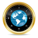 Security world. World in security safe box in 3d effect Royalty Free Stock Image