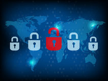 Security world files. With locks  shape presentation Royalty Free Stock Image