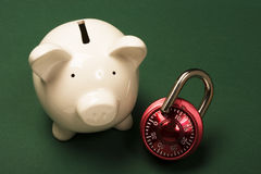 Security of your savings Royalty Free Stock Photo