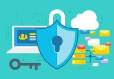 Secutiry begrepp för internet Vektor Illustrationer
