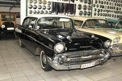 Sedán 1957 de la puerta de Chevrolet Biscayne 4 del coche del vintage Foto de archivo libre de regalías