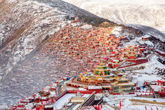 Seda buddhish college. Is in Sichuan province, China. It is the biggest Buddhish college of the world. More than 30K Monks and Nuns are living here Stock Photography