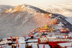 Seda buddhish college. Is in Sichuan province, China. It is the biggest Buddhish college of the world. More than 30K Monks and Nuns are living here Stock Image
