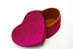 Seda caixa-Tailandesa do presente cor-de-rosa escuro do coração Imagem de Stock