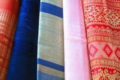Seda colorida Imagen de archivo libre de regalías