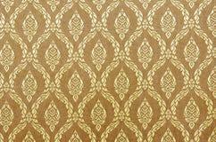 Seda de la tela del oro Fotografía de archivo libre de regalías
