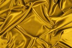 Seda del oro Fotos de archivo libres de regalías