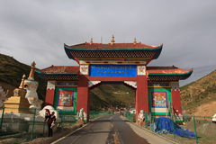 Seda Larong Wuming buddhism college. Is in Seda,Sichuan, China which is the largest Tibetan-Buddhism Institute in the world Royalty Free Stock Image