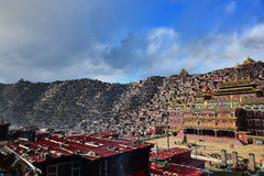 Seda Larong Wuming buddhism college. Is in Seda,Sichuan, China which is the largest Tibetan-Buddhism Institute in the world Royalty Free Stock Photos