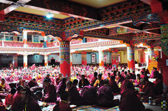 Seda Larong Wuming buddhism college. Is in Seda,Sichuan, China which is the largest Tibetan-Buddhism Institute in the world Stock Photos