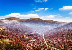 Seda Larong Wuming buddhism college. Is in Seda,Sichuan, China which is the largest Tibetan-Buddhism Institute in the world Stock Images