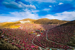 Seda Larong Wuming buddhism college. Is in Seda,Sichuan, China which is the largest Tibetan-Buddhism Institute in the world Stock Image