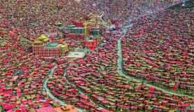 Seda Larong Wuming buddhism college. Is in Seda,Sichuan, China which is the largest Tibetan-Buddhism Institute in the world Stock Photography
