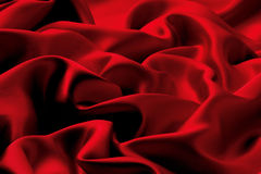 Seda roja Imágenes de archivo libres de regalías