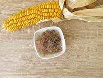 Seda secada y cortada del maíz Fotografía de archivo libre de regalías
