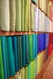 Seda tailandesa colorida fotografia de stock