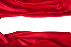A seda vermelha elegante lisa pode usar-se como o fundo Imagem de Stock