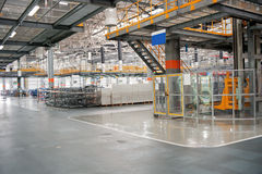 The sedan assembly shop production line Stock Photo