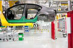 The sedan assembly shop production line Royalty Free Stock Photography