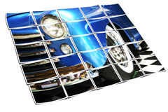 Sedan azul clássico com Whitewalls Fotos de Stock