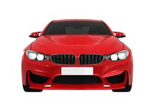 Sedan Car Isolated. On white background. 3D render Stock Image