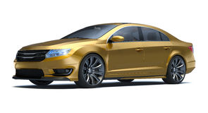 Sedan 3d concept car Royalty Free Stock Photos