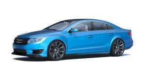 Sedan 3d concept car Royalty Free Stock Photos