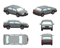 Sedan. 3d low model car sedan Stock Images
