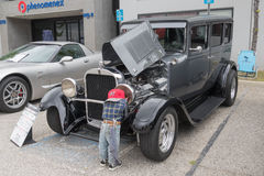 Sedan 1928 de Dodge na exposição Imagens de Stock