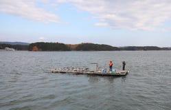 Sedan fjärdölandskapet och fiskaren Shima Japan arkivfoton