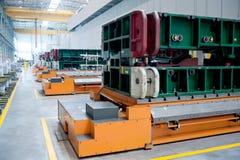 Sedan forging workshop production line stock images