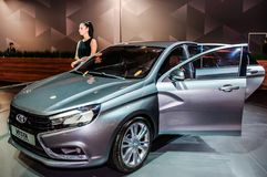 Sedan Lada Vesta Concept Fotos de Stock