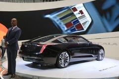 Sedan 2018 novo de Cadillac na exposição na feira automóvel internacional norte-americana Imagem de Stock Royalty Free