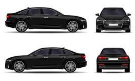 Sedan realístico do carro ilustração do vetor
