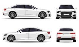 Sedan realístico do carro ilustração royalty free