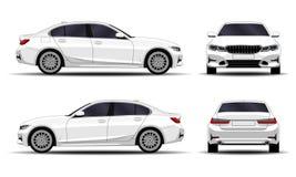 Sedan realistische auto royalty-vrije illustratie