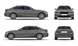 Sedan realistische auto vector illustratie