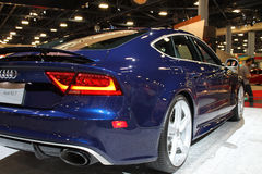 Sedan super alemão novo na feira automóvel Imagem de Stock