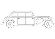 Sedan - vintage model of car Stock Photos