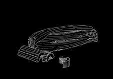 Sedano bianco su fondo nero fotografie stock libere da diritti