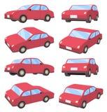 sedantyp för bil 3D Arkivfoton