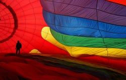 Sedas brilhantemente coloridas do balão Foto de Stock